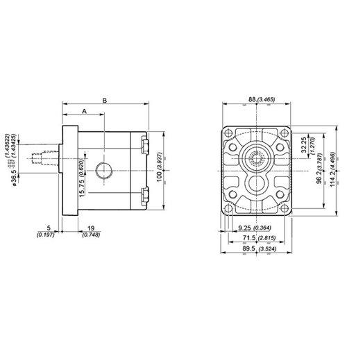 POMPA ZĘBATA GALTECH 2SPA08-D-10-N ZAMIENNIK BOSCH 0510425043 0510425011