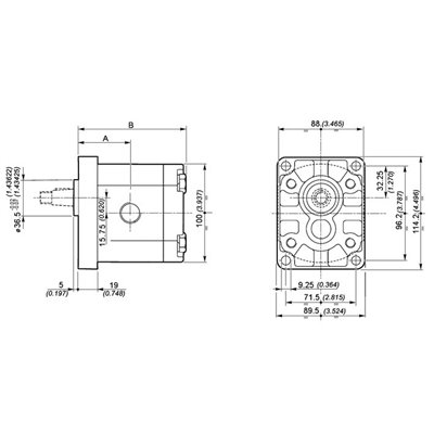 POMPA ZĘBATA GALTECH 2SPA06-D-10-N ZAMIENNIK BOSCH 0510325025 0510325008