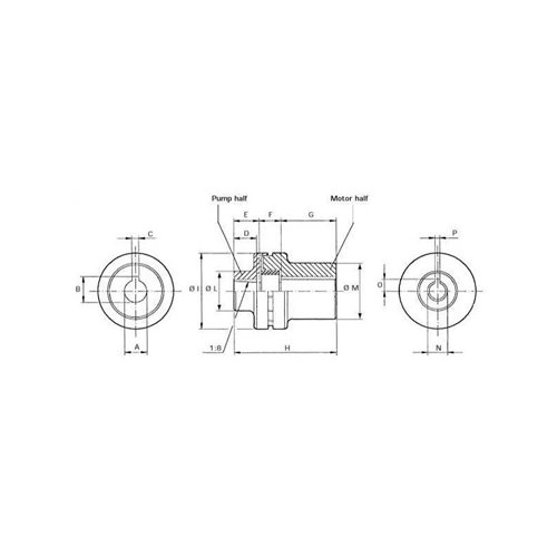SPRZĘGŁO GRUPA 1 SILNIK WAŁEK 28x60 2,2-4,0 kW