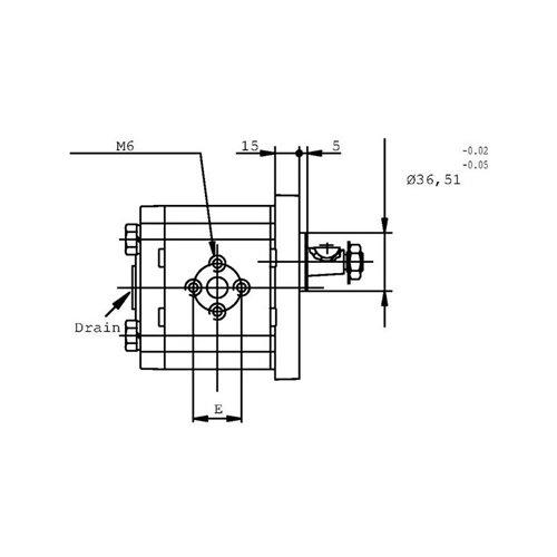 POMPA ZĘBATA CASAPPA PLP20.8D0-82E2-LEA/EA-N-EL FS