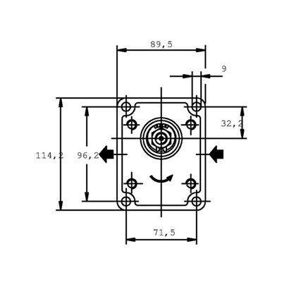POMPA ZĘBATA CASAPPA PLP20.14D0-82E2-LEA/EA-N-EL FS