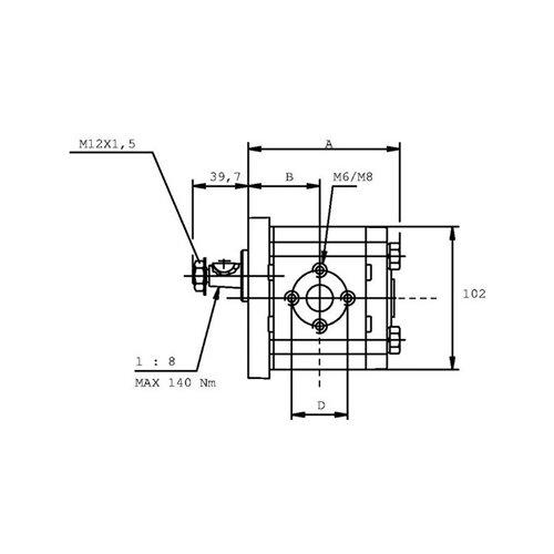 POMPA ZĘBATA CASAPPA PLP20.20D0-82E2-LEA/EA-N-EL FS