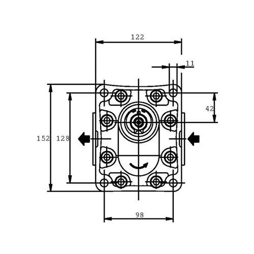 POMPA ZĘBATA CASAPPA PLP30.34D0-83E3-LED/EB-N-FS