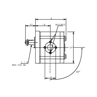 POMPA ZĘBATA CASAPPA PLP30.38D0-83E3-LED/EB-N-FS