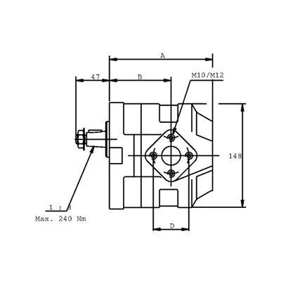 POMPA ZĘBATA CASAPPA KP30.27D0-83E3-LED/EB
