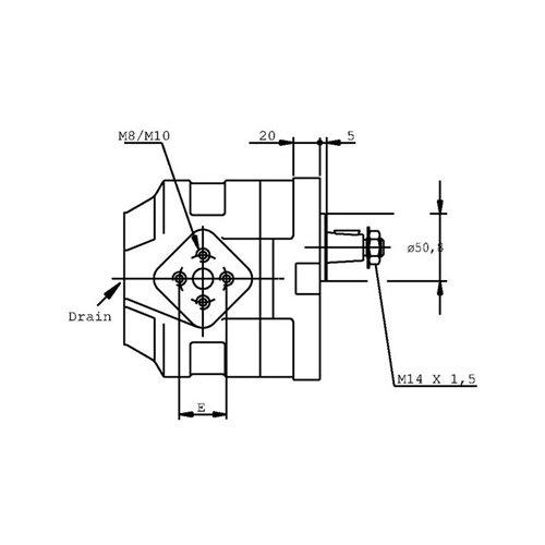 POMPA ZĘBATA CASAPPA KP30.34D0-83E3-LED/EB