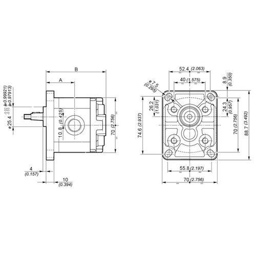 POMPA ZĘBATA GALTECH 1SPA2.0-D-EUR-B-N-10-0-G
