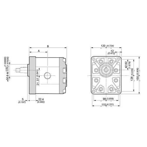POMPA ZĘBATA GALTECH 3SPA/3GP37-D-10-G