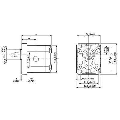 POMPA ZĘBATA GALTECH 2SPA19-D-10-G